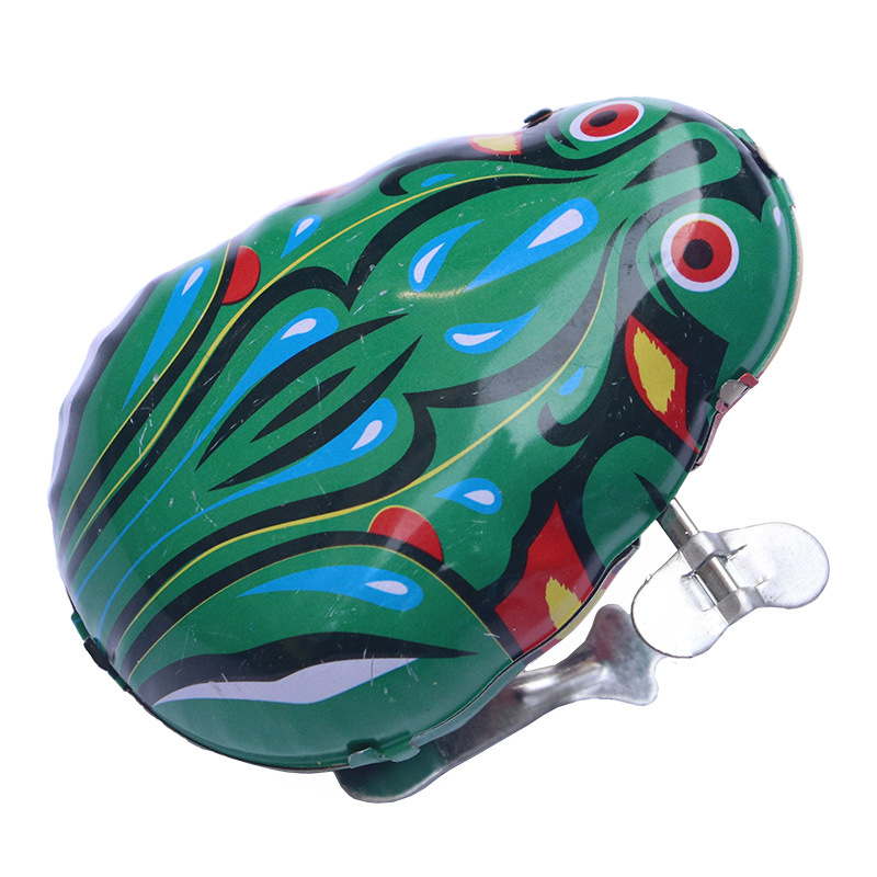 Algam Frog Game Spring-Winding Leap Frog Children Small Toys 80 Nostalgic Winding Animal Stall Wholesale