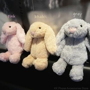 Image 1 - 3D Bunny Doll Case dla iPhone 11 Pro Max 6 6s 7 8 Plus X XR XS królik włosów Furry pokrywa dla Samsung S20 uwaga 10 + S10 S8 S9 S7 S6