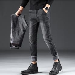 2019 stilvolle Winter Dicke Warme Flanell Stretch Jeans Für Männer Hohe Qualität Männlichen Hosen