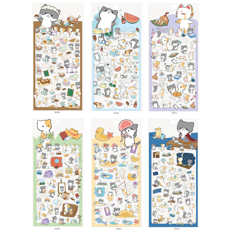 Animal Party PVC Transparent Journal Decorative Adhesive Stickers DIY Decoration Diary Stationery Stickers Children Gift