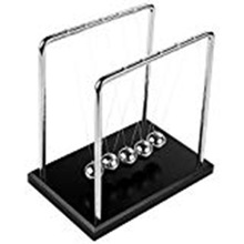 Square Newton Cradle Metal Ornaments Wood Base Perpetual Instrument Office Desk Home Decoration Crafts Miniature Figurine studio designs home office wood desk carousel black