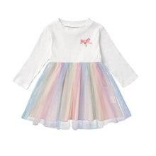 Micol emilly детское платье с длинным рукавом марлевое для маленьких