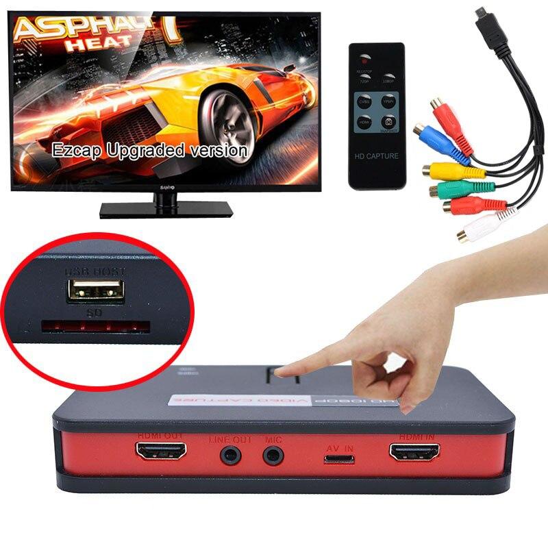 Original EZCAP 284 HDMI Game HD Video Capture Box Grabber For XBOX PS3 PS4 TV Medical online Video Live Streaming Video Recorder