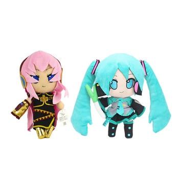 цена на Megurine Luka Vocaloid Hatsune Miku Plush Toy Doll 25cm Green Hatsune Miku Cute Soft Figure Cartoon plush Doll