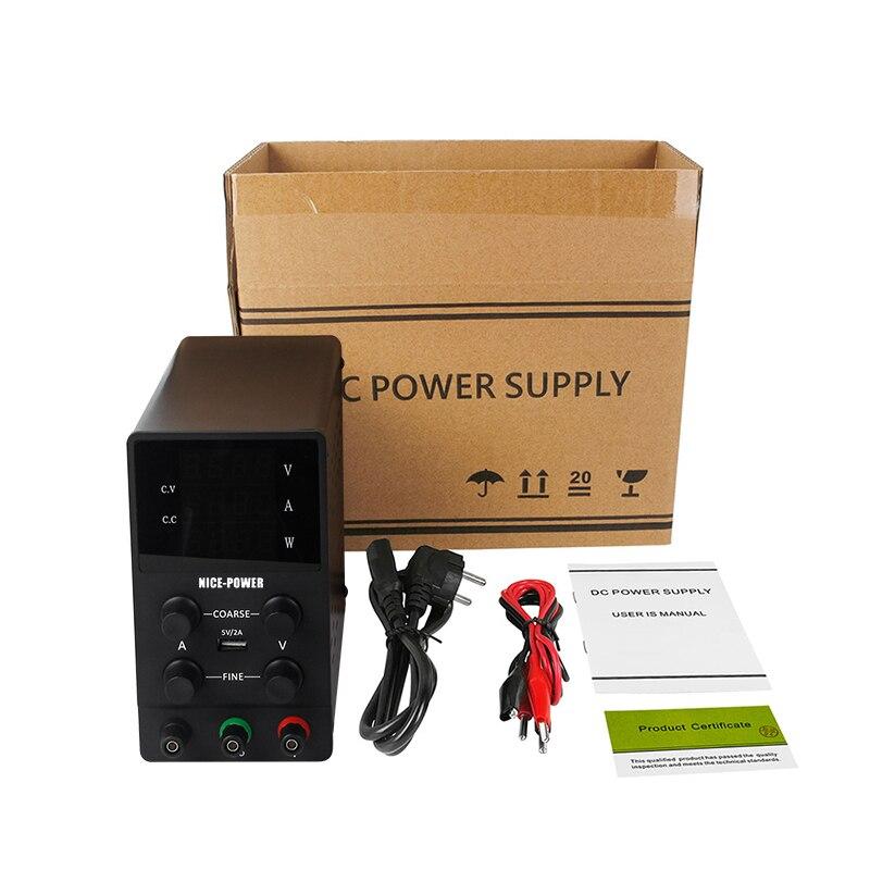 Switching Power Supply Adjustable USB DC Laboratory Light Transformer DC 110V 220V 30V 60V 120V Power Supply Source 10A 5A 3A-5