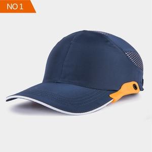 Image 1 - 安全バンプキャップ職場建設現場帽子と通気性ハード帽子ヘッドヘルメット反射ストライプ軽量