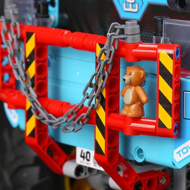 20056 Technik ultimative Alle Gelände 6X6 lkw set bausteine ziegel spielzeug Modell kompatibel Legoing 42070 Kind Weihnachten Geschenk - 6