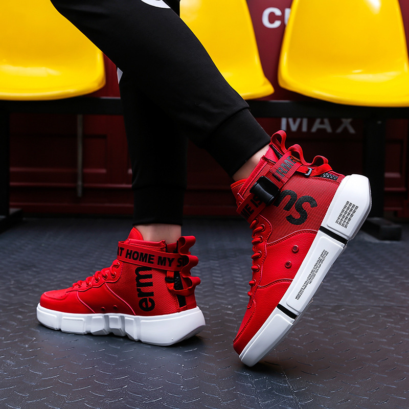 2019 High Help Shoes Sneakers Men Male Motion Will Code Leisure Time Gym Shoes Male Ins Trend Male Shoe Zapatos De Hombre in Men 39 s Casual Shoes from Shoes