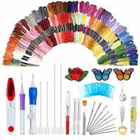 DIY Magic Embroidery Stitching Punch Needle Tool Stitching Punch Pen Sets DIY Craft Sewing Tool for Sewing Knitting Embroidery