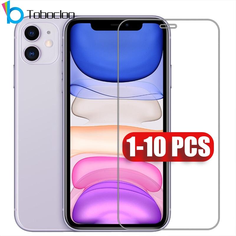 1 - 10 шт./партия, Защитное стекло для iPhone 12 Mini X XS 11 Pro Max XR 7 8 SE 2020 6 6s Plus 5
