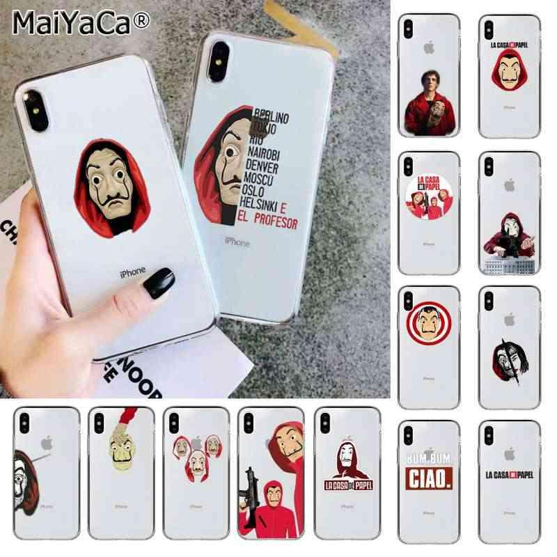Maiyaca La Casa De Papel Tv Series Money Heist House Painted Phone Case For Iphone Se 2020 11 Pro 8 7 66s Plus X Xs Max 5s Se Xr Phone Case Covers Aliexpress
