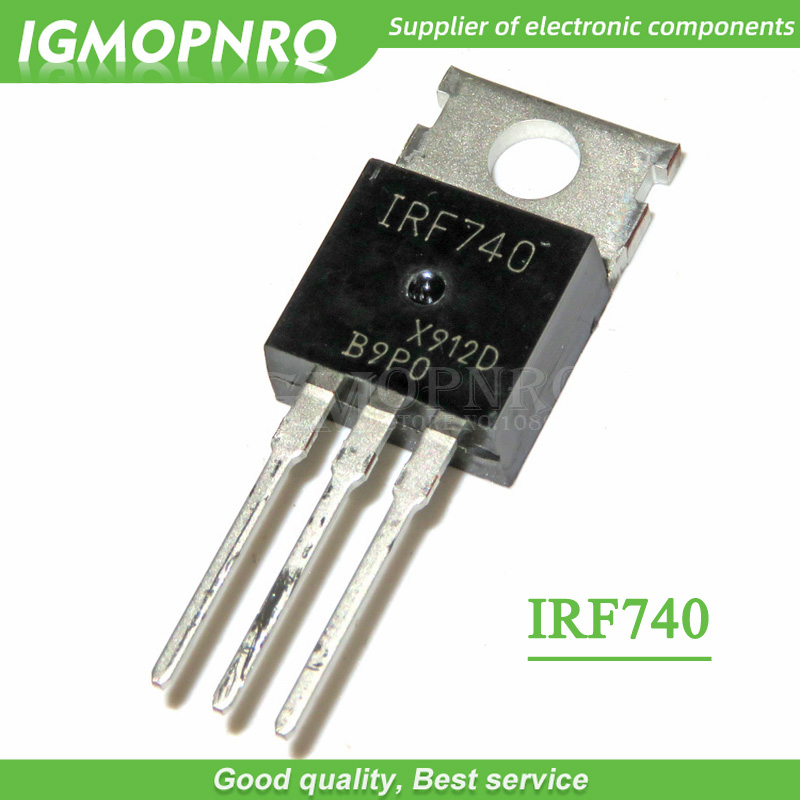 10pcs IRF740 IRF740PBF  400V 10 Amp MOSFET N-Chan TO-220 New Original