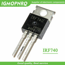 10pcs IRF740 IRF740PBF 400V 10 Amp MOSFET N-Chan PARA-220 original novo