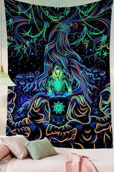 Simsant Psychedelic Shrooms Tapestry Colorful Abstract Trippy Tapestry Wall Hanging Tapestries for Home Dorm Fantasy Decor 35