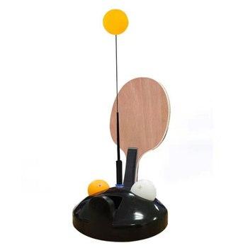 Nuevo juego de tenis de mesa divertido auto-entrenamiento ocio chico interior al aire libre jugar juguetes tabla tenis entrenador elástico con raqueta