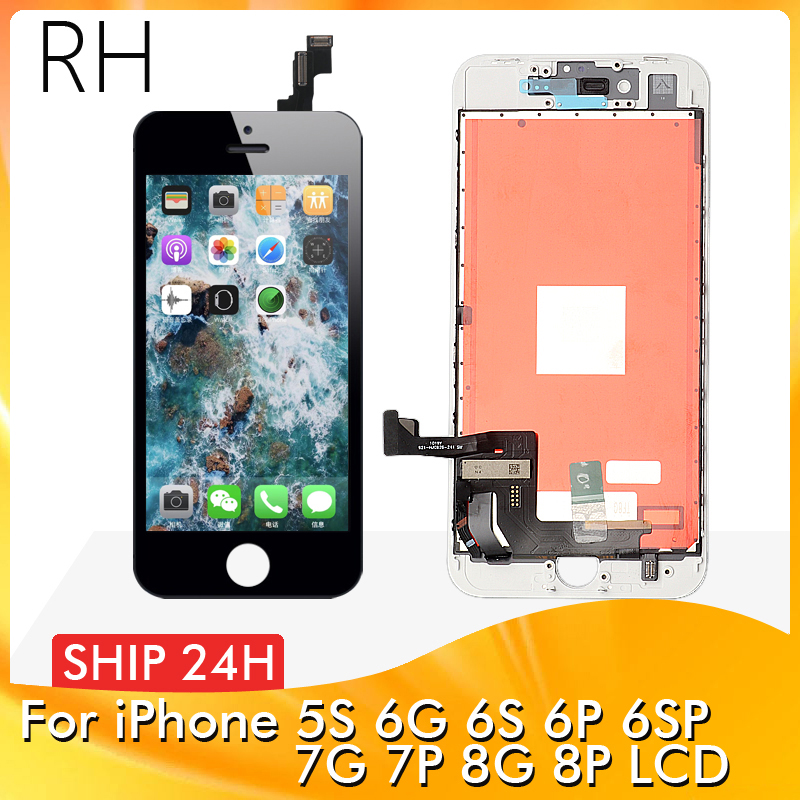 AAA+++ For IPhone 6S 6SP 7P 8P 7 8 LCD With 3D Force Touch Screen Digitizer Assembly For IPhone 5S 6 6Plus Display No Dead Pixel