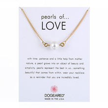 Delicate Imitation Pearl of Love Pendant Necklaces Clavicle Chains Necklace Chockers Necklace Women Valentine's Day Gift Jewelry(China)