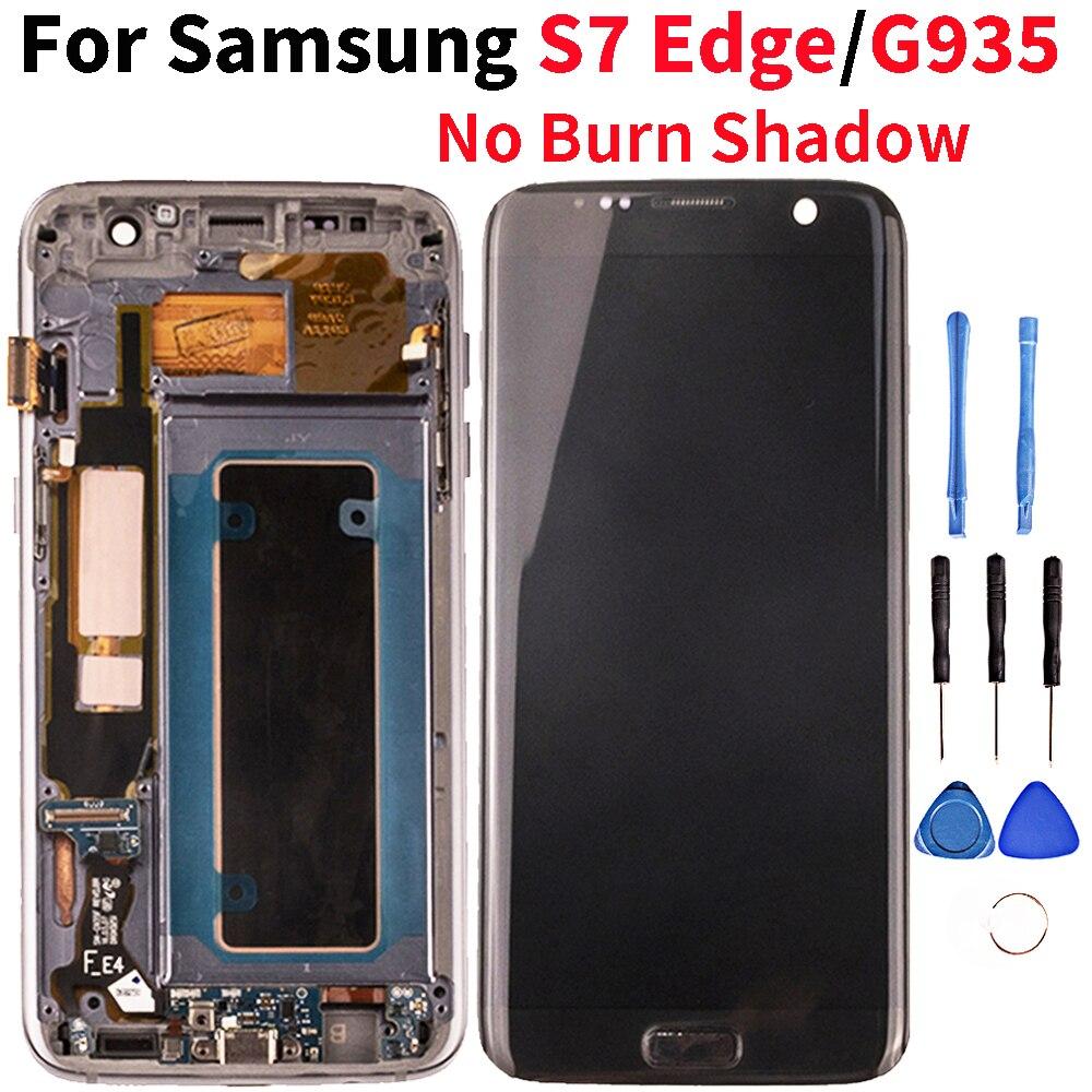 Qualité Lcd pour Samsung Galaxy S7 bord LCD écran tactile numériseur assemblée pour Samsung S7 bord G935 G935F