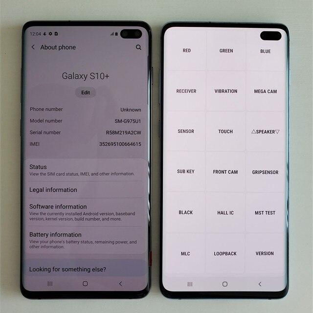 "Original Samsung Galaxy S10+ G975U1 1TB ROM【98% New 】S10 Plus G975U Cell Phone 6.4"" 12GB RAM Snapdragon 855 NFC 4G LTE 3"