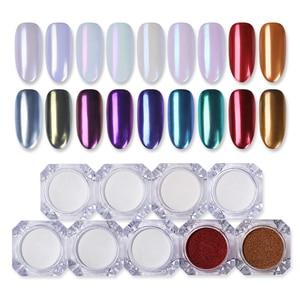 Image 5 - 1g Spiegel Glitter Schimmer Pulver Nagel Chrom Pigment Dazzling Salon Micro Pulver Laser Nail art Dekorationen