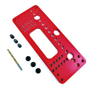 Image 4 - Ahşap alüminyum alaşımlı cep delik Pitch Jig seti dolap kapağı dolabı pozisyoner kolu yumruk bulucu matkap kılavuz kol
