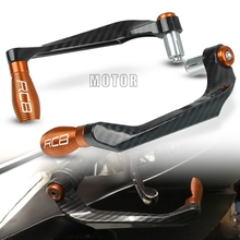 For KTM RC8/RC8R 2009-2016 RC 8 R 8R Motorcycle 7/8 22mm Handlebar Brake Clutch Levers Guard Protector Handle Bar Grip Proguard cnc aluminum motorbike motorcycle brake clutch levers foldable extendable for ktm rc8 rc8r rc 8 rc 8r rc 8 8r 2009 2016