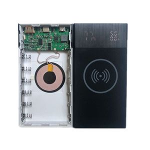Image 5 - New 6x 18650 Battery DIY Qi Wireless Charger QC3.0 USB Type C PD Power Bank Box Case