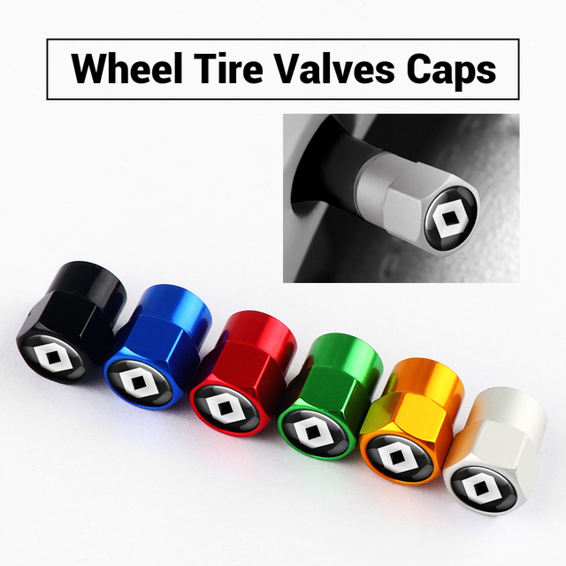 Car Styling Car Wheel Tire Valve Stem Caps Cover Auto Parts For Renault Megane Duster Logan Laguna Captur Exterior Accessories