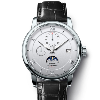 Швейцарские часы LOBINNI мужские, японские автоматические механические часы из натуральной кожи, Sapphire, L1888-1