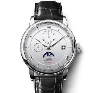 Image 1 - Suíça marca de luxo lobinni men relógios gaivota relógio automático mecânico masculino safira fase da lua 50m à prova dwaterproof água L1888 1