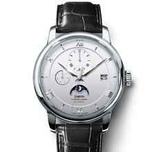 İsviçre lüks marka LOBINNI erkekler saatler martı otomatik mekanik erkek saat safir ay fazı 50M su geçirmez L1888 1