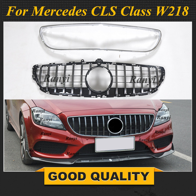 GT <font><b>Grill</b></font> Vertical Style For Mercedes Benz CLS Class <font><b>W218</b></font> Facelift Sedan Auto Front Grille 2015-2018 CLS300 CLS350 CLS450 CLS500 image