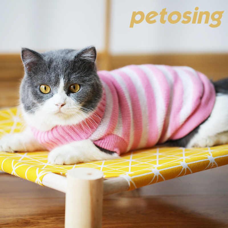 고양이 옷 가을과 겨울 옷 귀여운 새끼 고양이 파란 고양이 샴 고양이 새끼 고양이 따뜻한 스웨터 애완 동물 옷 고양이 개 조끼 BB50WY