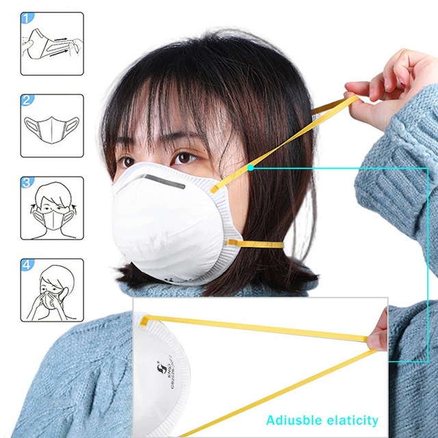 Dust Mask Antivirus flu anti infection Particulate Respirator virus Anti-fog PM2.5 Protective Mask Safety Masks In Stock KN95 2