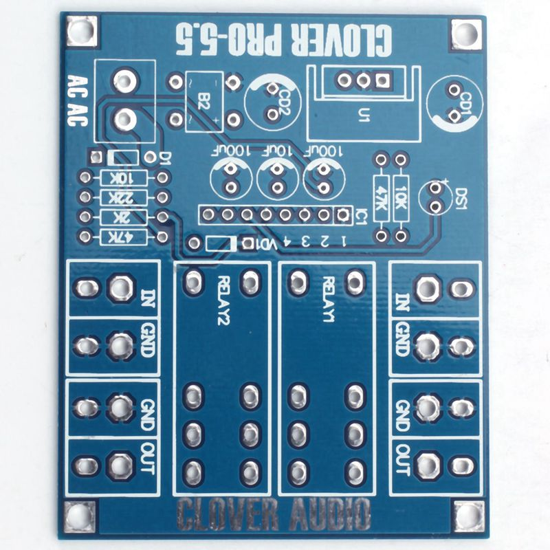 Dual OMRON Relay 7812+UPC1237 Speaker Protection Board Kit for <font><b>HIFI</b></font> DIY AC 12-24 image