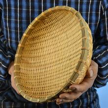 Naturalne ekologiczne ręcznie kosze bambusowe owoce warzywa chleb kosz rattanowy kosz do przechowywania Organizer do domu tanie tanio Rozmaitości BAMBOO AAG488 Zaopatrzony Kosze do przechowywania