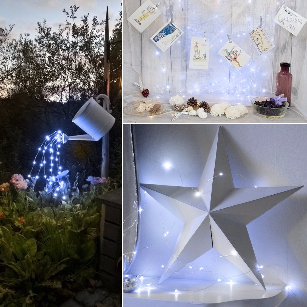 LED Solar Copper String Lights