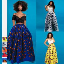 African style Blockbuster Digital Printing Fashion Half-length longuette Slipping Floppy Long Skirt clothes for women JQ-10026