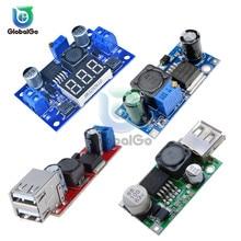 Регулируемый 4,5-40 в двойной USB зарядное устройство понижающий преобразователь LM2596 LM2596S Step понижающий блок питания Регулятор модуль доска вольтметр