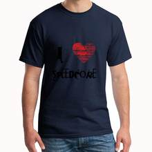Custom Ik Liefde Speedcore Techno Dubstep Raver Festival T-shirt Xxxl 4Xl 415XL Cool Gym Unisex Gents T-stuk(China)