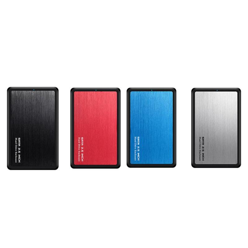 Portable HDD Enclosure 5Gbps 2.5 Inch Hard Disk Case ABS+ Aluminum Slide Cover Case USB 3.0 To SATA HDD SSD Mobile Box