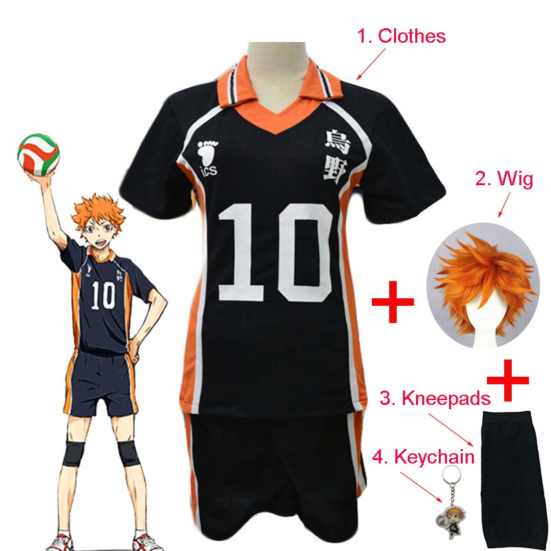 Anime Haikyuu Hinata Shoyo Full Set Cosplay Costume No. 10 Volleyball Short Sleeve Shorts Summer Clothes For Adult