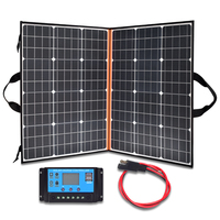 Xinpuguang Folding Portable 110W 18V Solar Panel Charger System 12V 10A Controller USB for Battery Hiking Camping