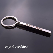 цена на Inspring Letterring Keychain'' You Are My Sunshine'' Fashion Keychain  Rectangular Keychain Letterring Keychain Bar Keychain