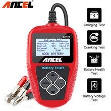 Ancel BA101 12 فولت سيارة جهاز اختبار بطارية شاحن أدوات 100-2000CCA السيارات الدراجات النارية أداة لشحن أنظمة البداية PK KW600