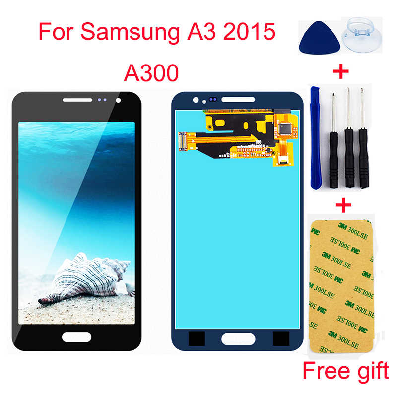 For Samsung A3 2015 A300 SM- A300X A300H A300FU A300FN Touch Screen Digitizer Sensor Glass + LCD Display Monitor Panel Assembly