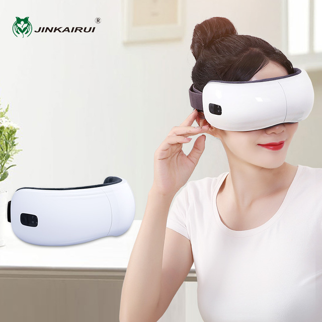 Jinkairui Eye Massager Electric Portable USB Rechargeable Adjustable Pressure Eye Protection with Heating Air Pressure Music