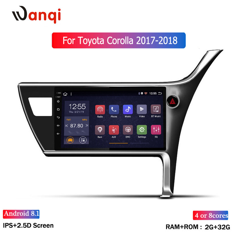 Android 8.1 For 2017-2018 <font><b>Toyota</b></font> Corolla(right Hand <font><b>Drive</b></font>) <font><b>Car</b></font> Stereo Screen Radio Multimedia player Wifi GPS Navigation 10.1