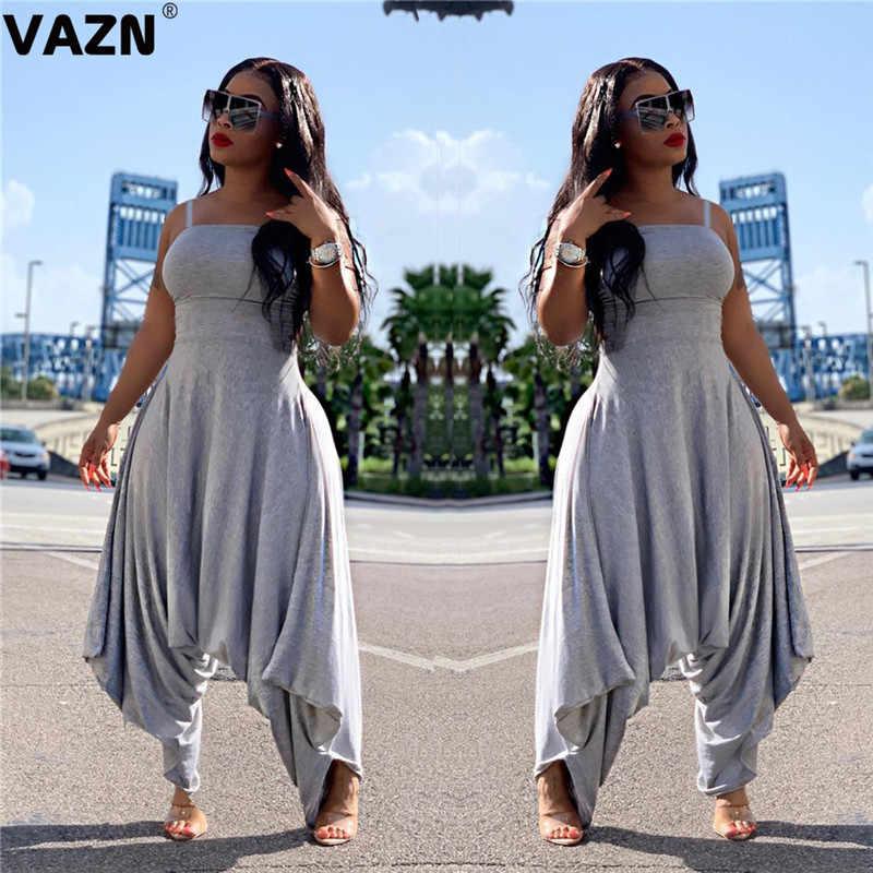 Vazn lsl6306 뜨거운 제품 2019 느슨한 여름 섹시한 숙녀 회색 jumpsuit strapless jumpsuit 바지 rompers