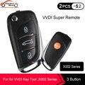 KEYECU XHORSE DS Стильный беспроводной универсальный дистанционный ключ 3 кнопки для инструмента VVDI (английская версия), серия X002